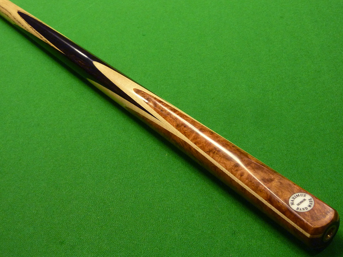 1pc Maximus Honor cue with Maple & Afzelia Burr