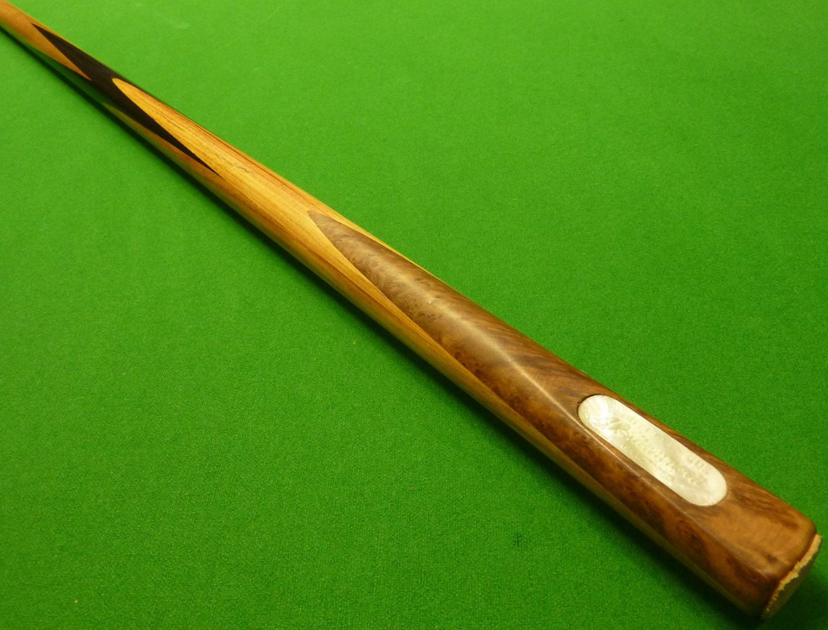 J.P Mannock cue by Burroughes & Watts - Pearwood