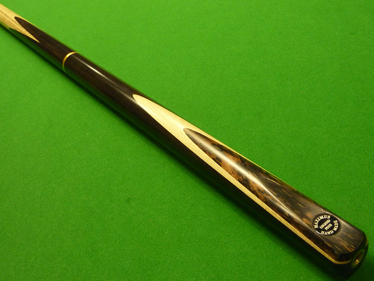 3/4 Maximus Legend Plus cue - Premium Ash, Ebony, Maple & Speckled Ebony