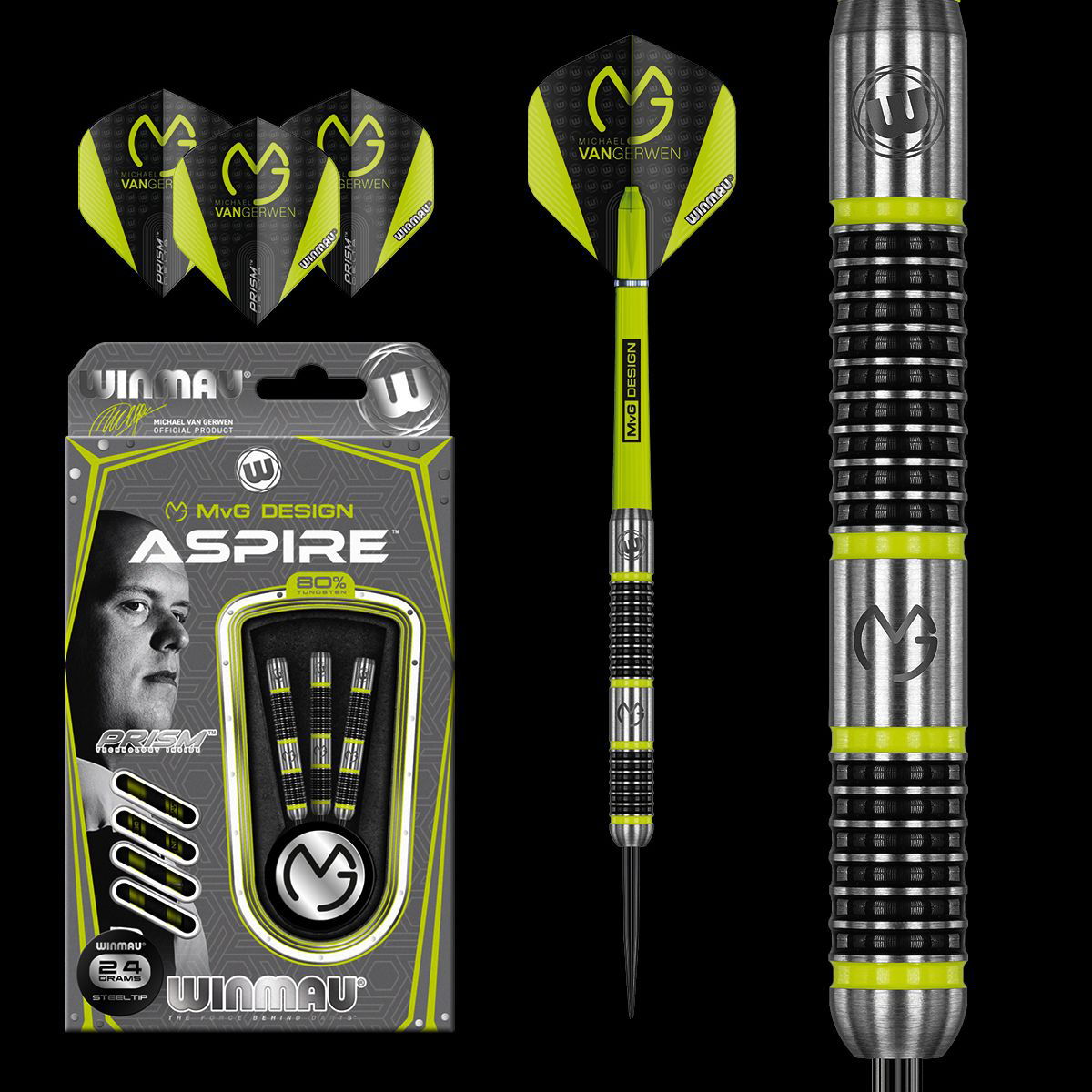 MvG Aspire Darts 80% Tungsten