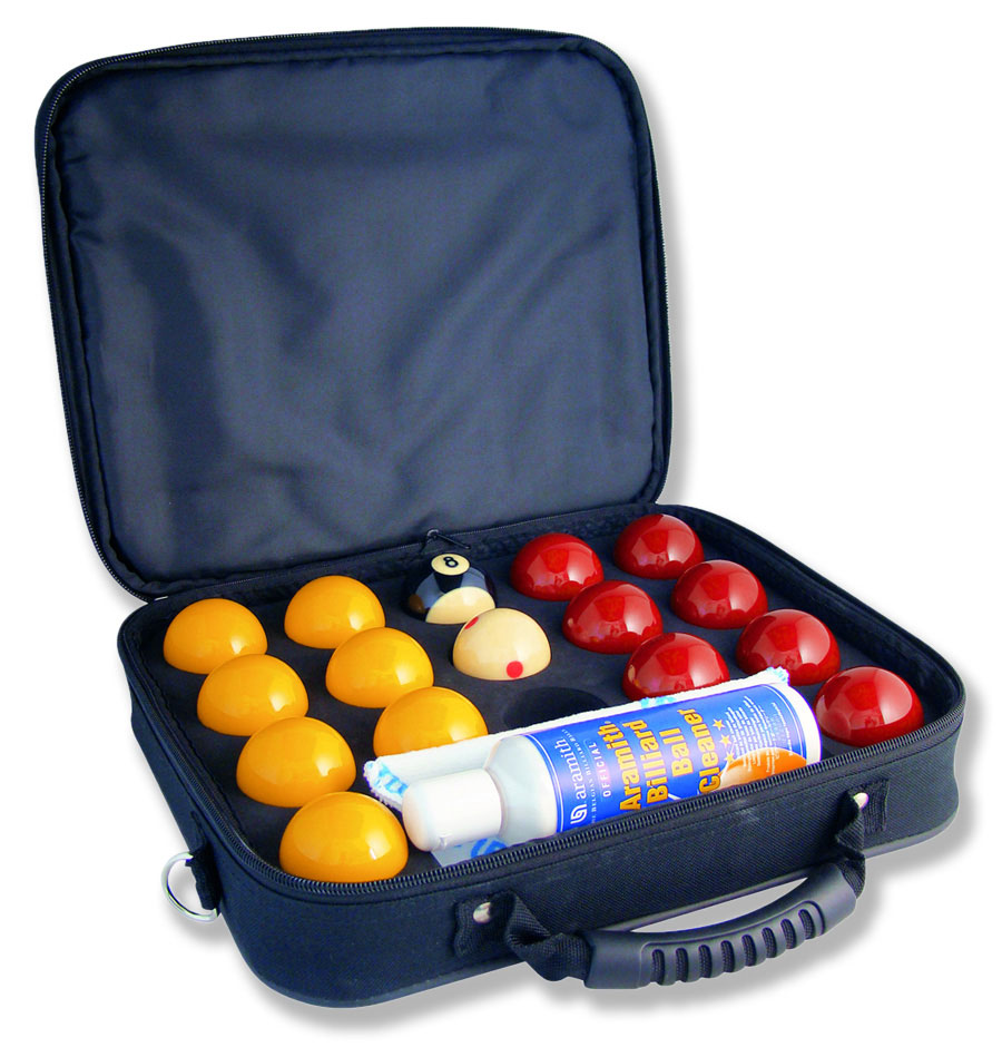Super Aramith pro cup pool balls & Carry case + Cleaner & Cloth
