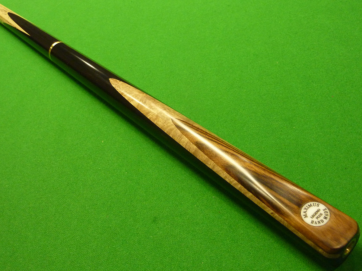 3/4 Maximus Legend Plus cue - Premium Ash, Ebony, Satin Burr & Striped Ebony
